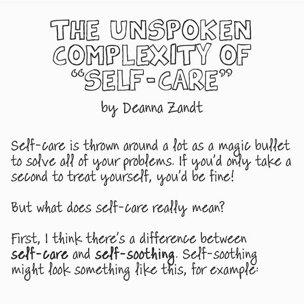 Self-care by Deanna Zandt