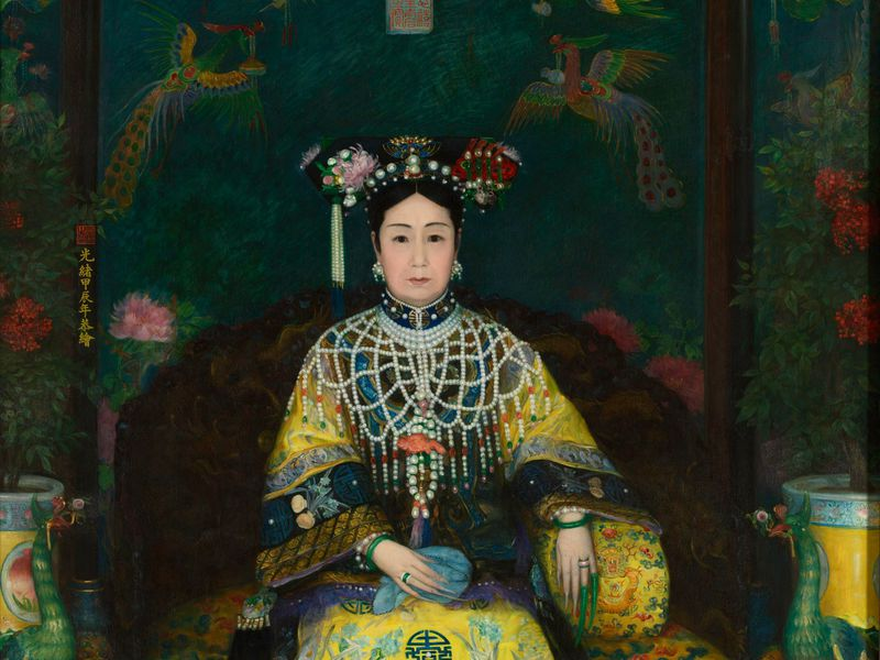 Painting of Empress Dowager Cixi by Katherine A. Carl, completed in 1903